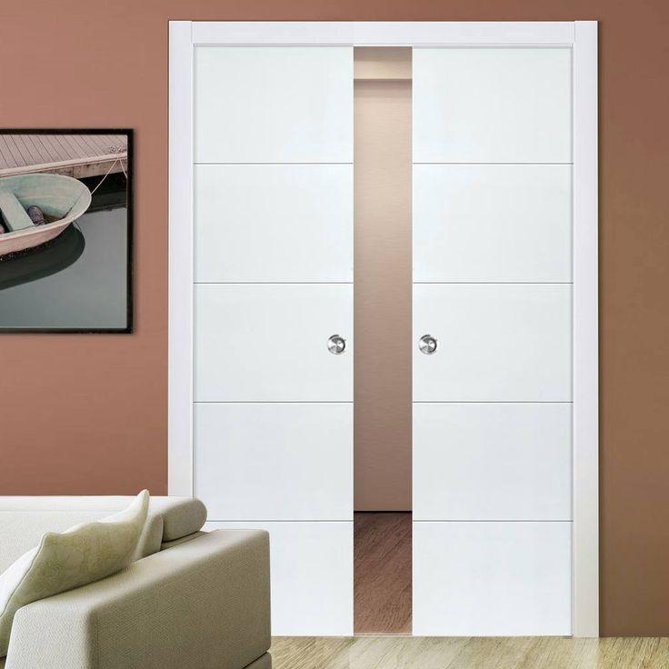 Adelphi White Double Pocket Doors