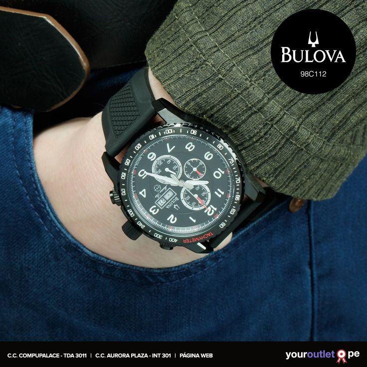 Toda la elegancia de este reloj Bulova para el fin de semana. Visita nuestra web y cómpralo al mejor precio.  A la venta también en nuestras tiendas.