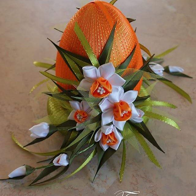 #kanzashi #handmade #egg