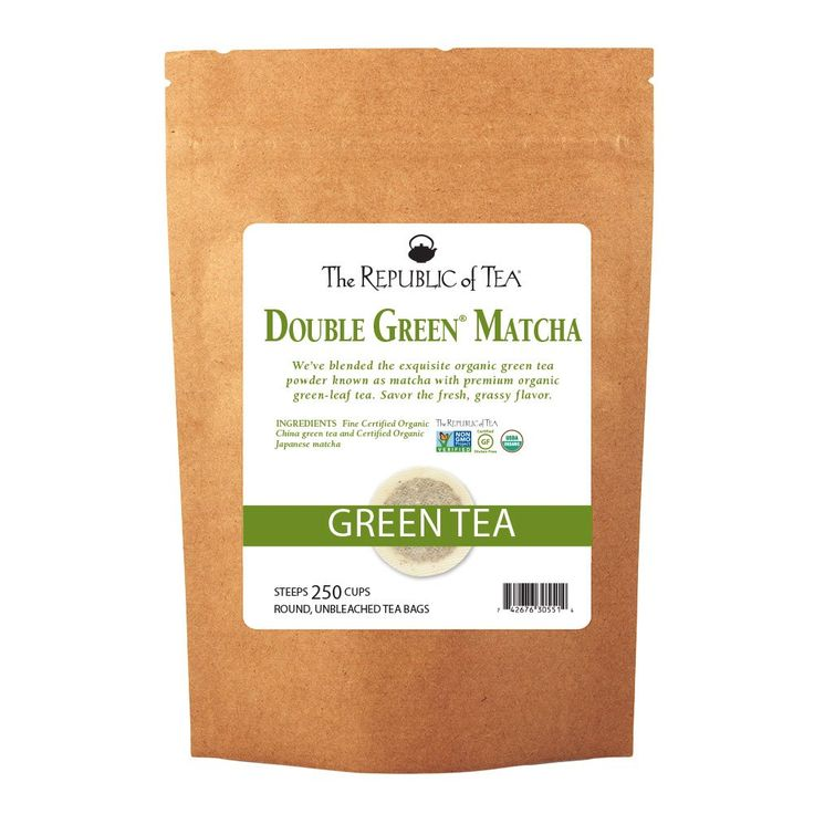 The Republic Of Tea Double Green Matcha, 250 Tea Bags, Gourmet Blend Of Organic Green Tea And Matcha Powder