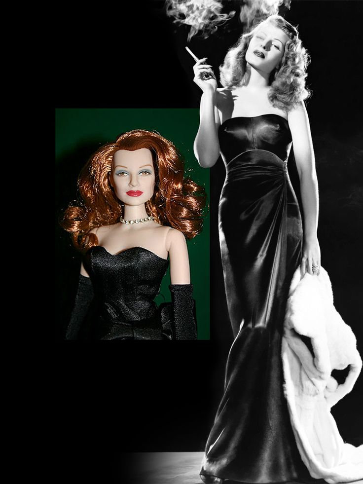 The Rita Hayworth as Gilda Doll — Rare, limited-edition doll released in 2000 for a benefit held by Sony Pictures & Princess Yasmin Aga Khan (Rita's daughter & honorary vice chair for the Alzheimer's Association).