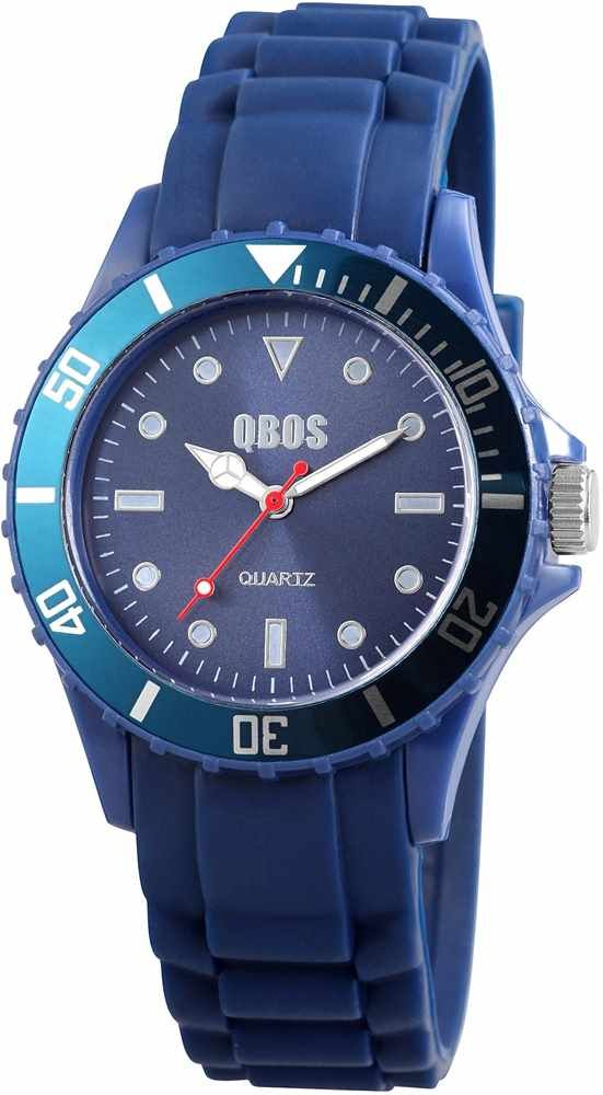 QBOS unisex watch with silicone strap