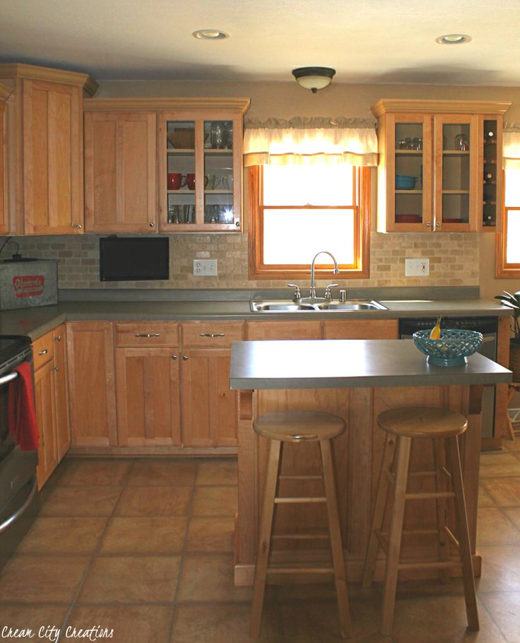 Maple cabinets, kitchen ideas, gray counters, natural ... on Natural Maple Kitchen Backsplash Ideas With Maple Cabinets  id=52778