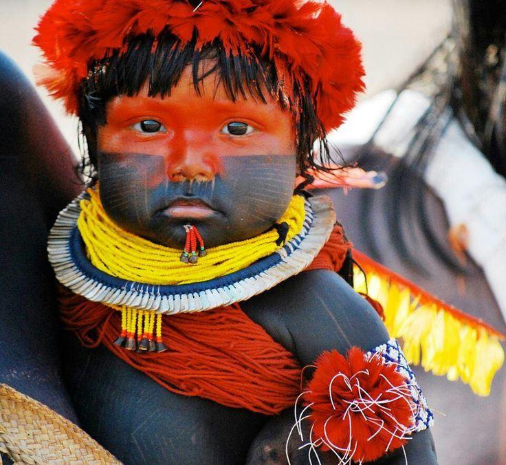 Kayapo baby, Brasil