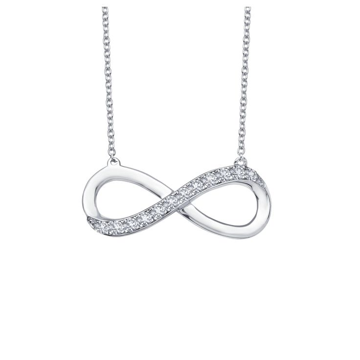 Lafonn sterling silver platinum plated infinity symbol necklace accented with simulated diamonds -$150.00 #PoagWishList