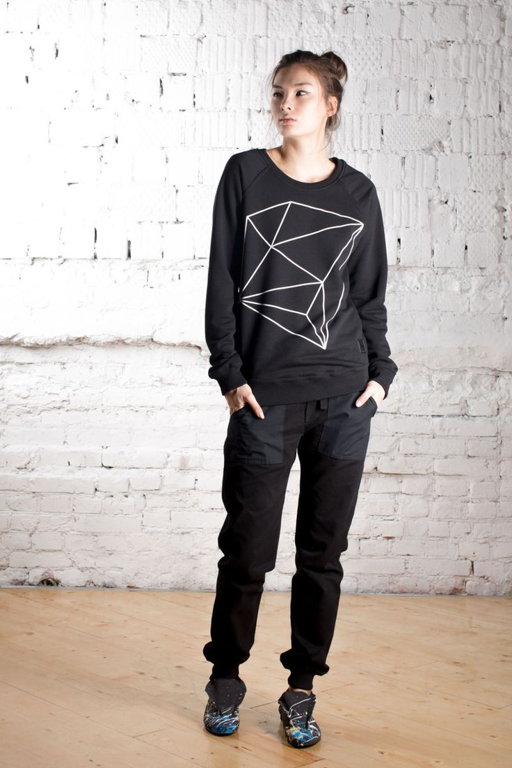 """Sweatshirt """"Cube"""" by WhiteCrowStore on Etsy"""