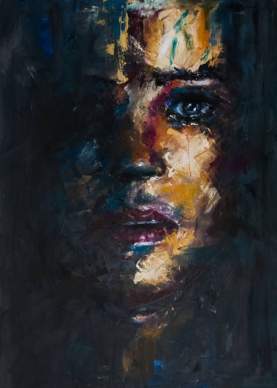 Memoria, Davide Cambria. The Bezold effect brings out the right side of her face