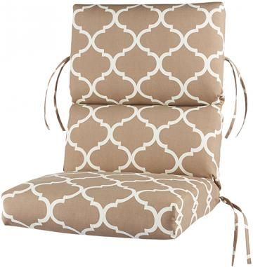 Spice Up Your Decor With This Home Decorators Collection Landview Taupe  Polyester High Back Bullnose Outdoor Chair Cushion.