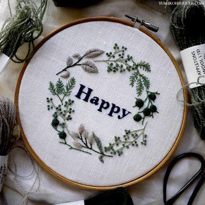 happy embroidery 2015 by yumiko higuchi