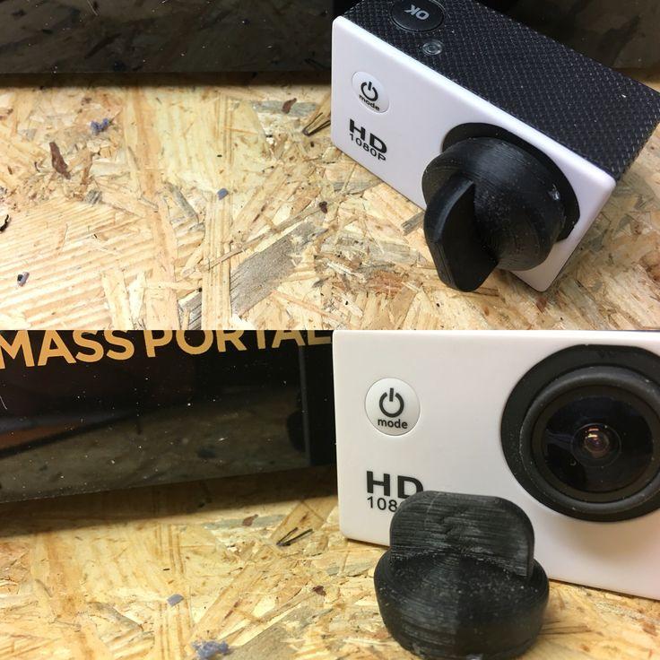 Linssinsuojus action kameraan. 3D-mallinnus tehty Rhinoceros 3D-mallinnusohjelmalla.