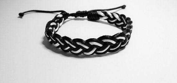 Classic Sailor Knots Bracelet Black and White by TiStephani
