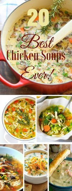 Check out the best 20 chicken soup recipes ever! /recipes_to_go/