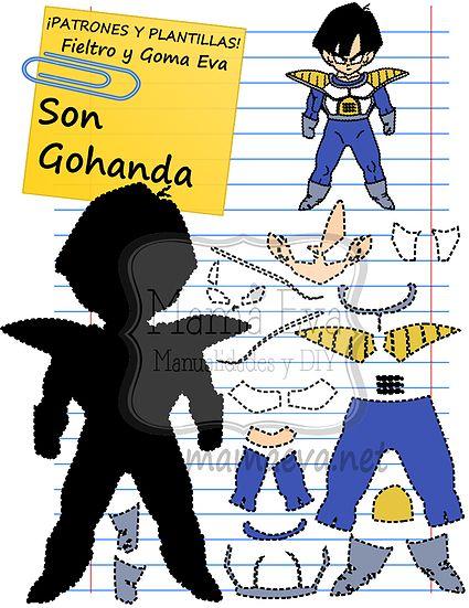 Plantillas personajes dibujos animados manga
