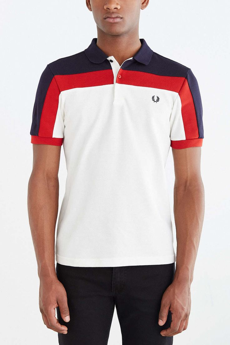 Fred Perry Paneled Pique Shirt