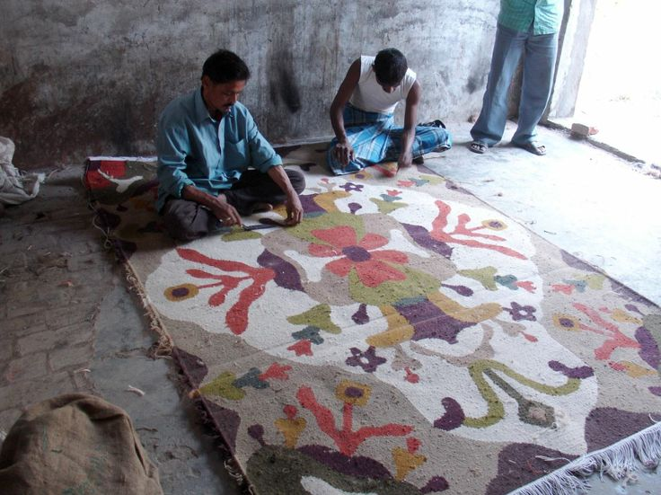 Victoria rug - Alfombra Victoria Making of process.