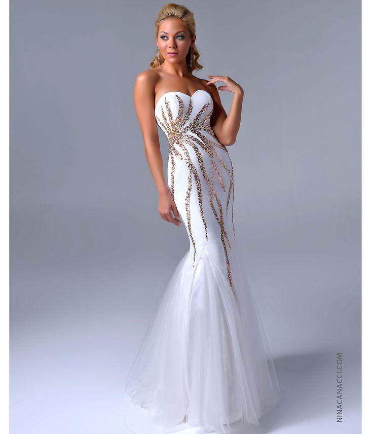 Mermaid Wedding Dress Gold : Dress gold mermaid prom dresses grad sequin