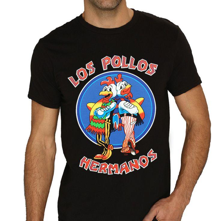 Мужские лос POLLOS херманос Breaking Bad куриные братья черная футболка мужская майка футболка тройник