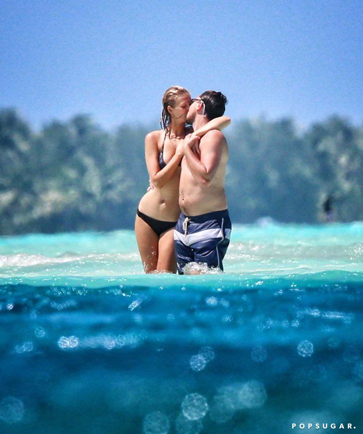 Pin for Later: The 52 Sweetest, Sexiest Celebrity PDA Moments of 2014 Leonardo DiCaprio and Toni Garrn
