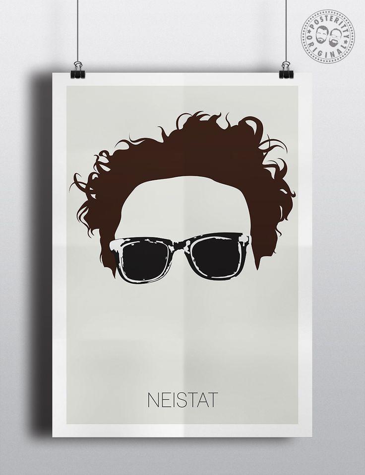 Casey Neistat Youtuber Minimalist Poster Glasses by Posteritty #CaseyNeistat #MinimalistHair