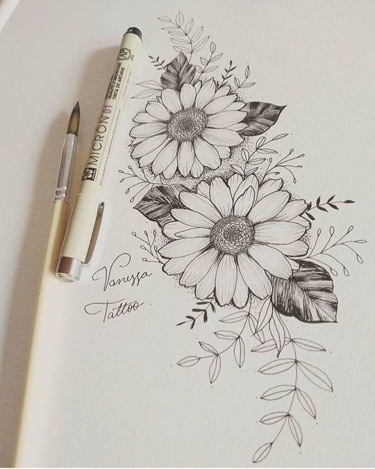Découvrez les emplois incroyables de @tattoovanessa, un spécialiste … #flowertattoos   – Flower Tattoo Designs