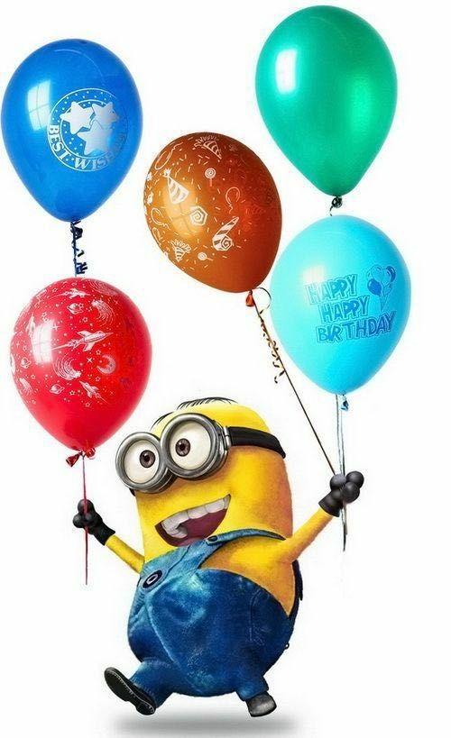 Открытка с днем рождения миньон