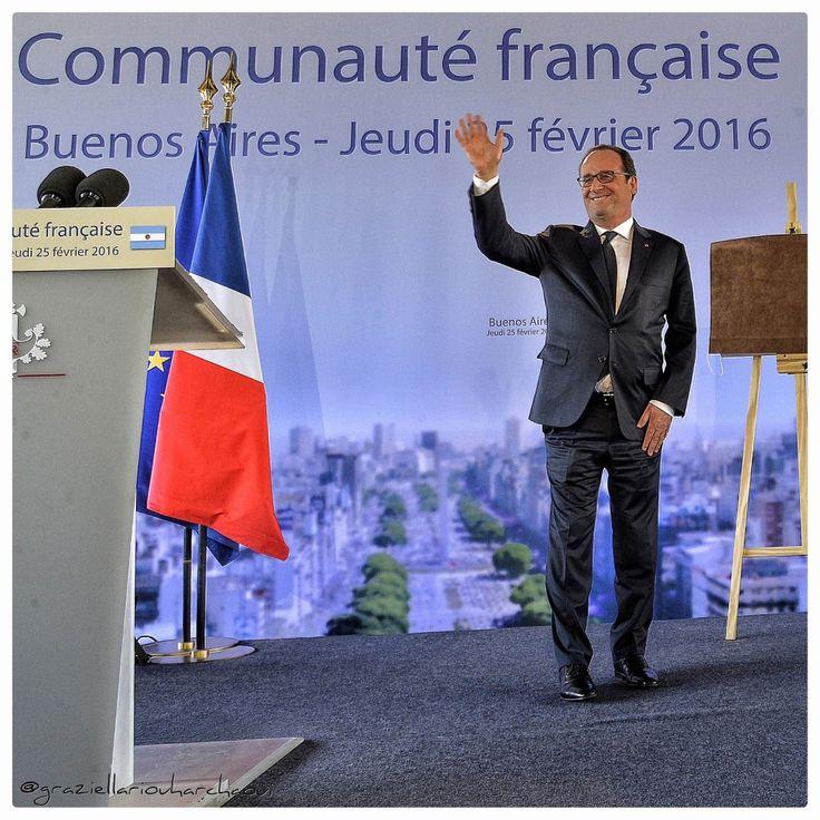 """Discours de François Hollande à la Communauté Française d'Argentine: """"vous êtes au service de la France et donc du monde"""""""