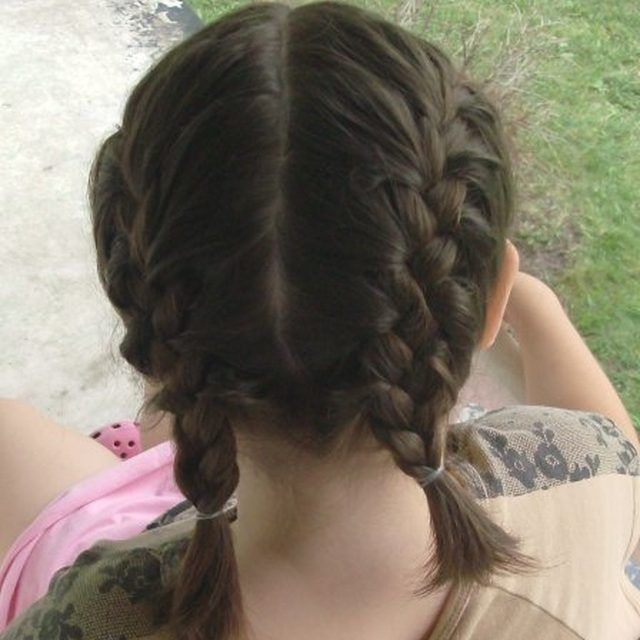 How To Make Two French Braids By Yourself French Braid Short Hair Two French Braids Braided Hairstyles
