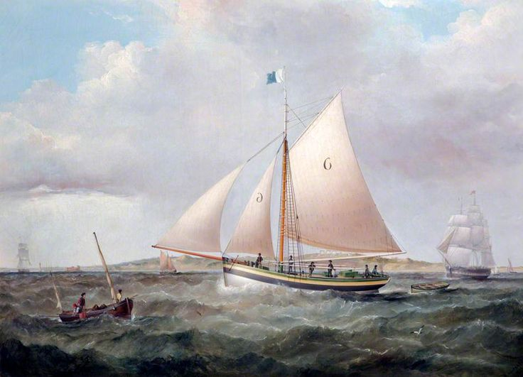 BBC - Your Paintings - 'Irlam', Pilot Sloop No.6  of Liverpool #liverpool #england