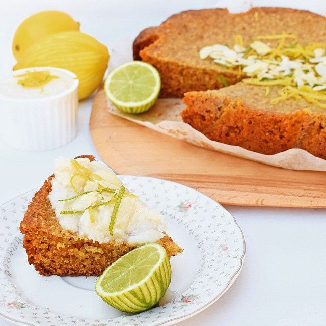 """There is something luxurious about a slow-cooked cake, in the same way that a slow-cooked pork shoulder feels more appealing than a """"pork roast"""". Why is that? Maybe a greater appreciation for the final product, thanks to the hours of gentle cooking. This lemon lime, coconut and poppy seed cake with zesty coconut butter from the @iquitsugar Slow-Cooker eBook took 3.5 hours on low, and is moist, chewy towards the middle, crunchier towards the edges. Mr 4 announced it was DE-LICious. #iqs"""