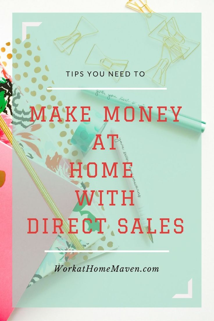 Direct sales companies offer a way to make money at home with direct sales. Knowing these tips will give you a strong start to your new business.