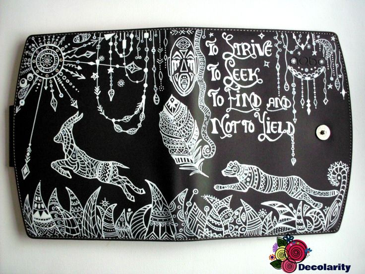 """""""Determination""""- """"To strive, to seek, to find and not to yield"""".  Zentangle draw with white Sharpie marker."""