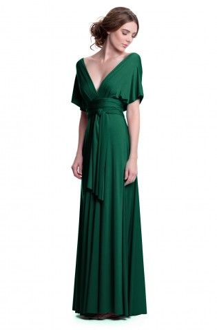 Love that you can wear this dress so many different ways! Emerald Green Convertible Maxi Dress