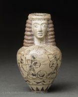 Aryballe ovoïde protocorinthien à col en forme de tête | Musée du Louvre | Paris
