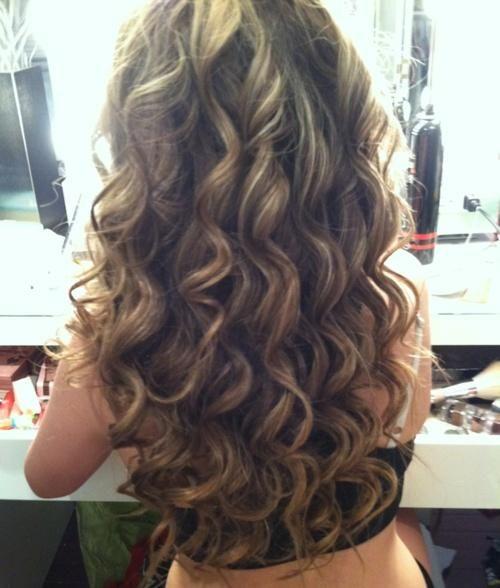 Brown & Blonde Smokey Curls