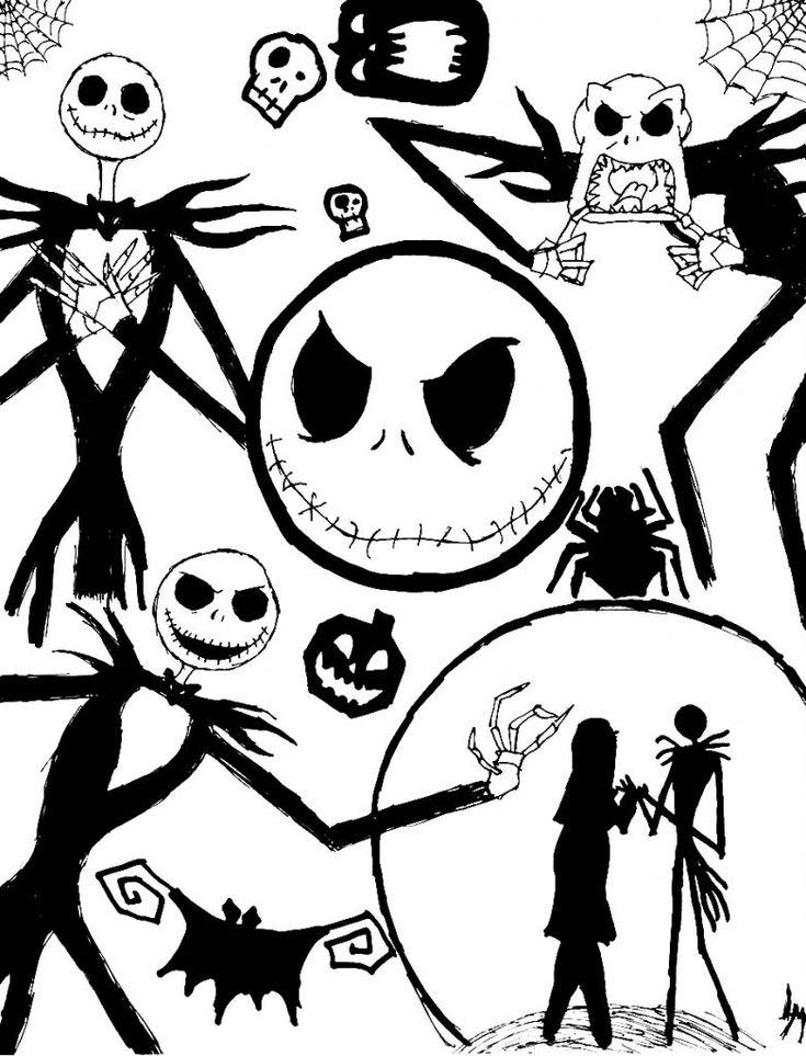nightmare before christmas coloring pages mayoral | 18 best Coloring Pages images on Pinterest | Drawing ideas ...