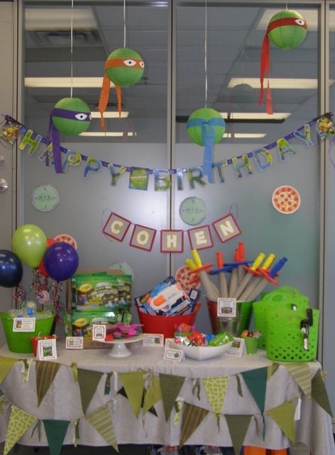 Teenage Mutant Ninja Turtles Birthday Party Ideas | Photo 1 of 23 | Catch My Party