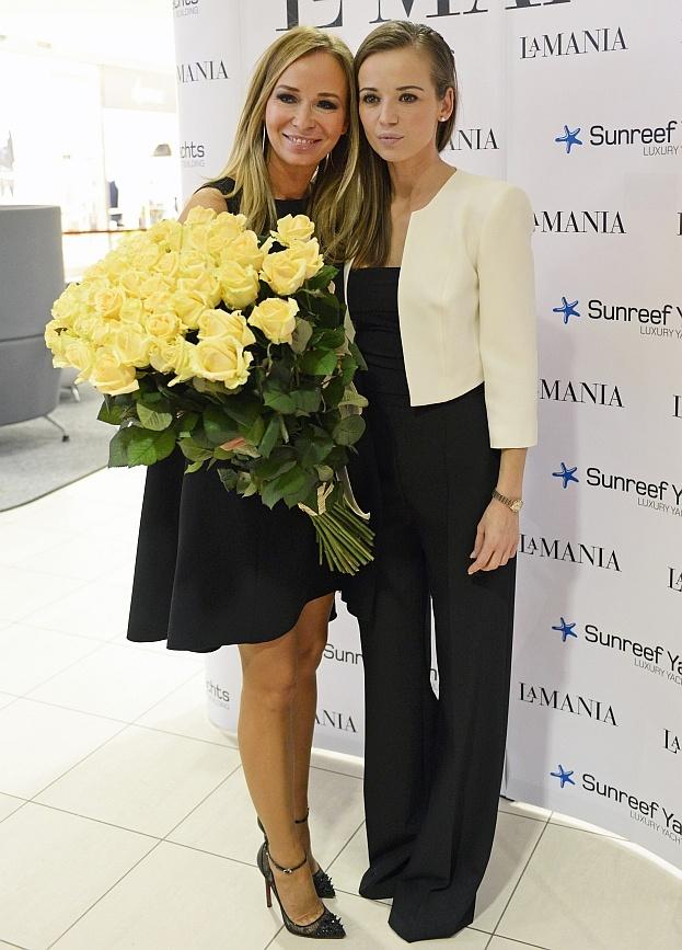 Anie Przybylska i Joanna Przetakiewicz, otwarcie sklepu LA MANIA #la #mania #przybylska #przetakiewicz