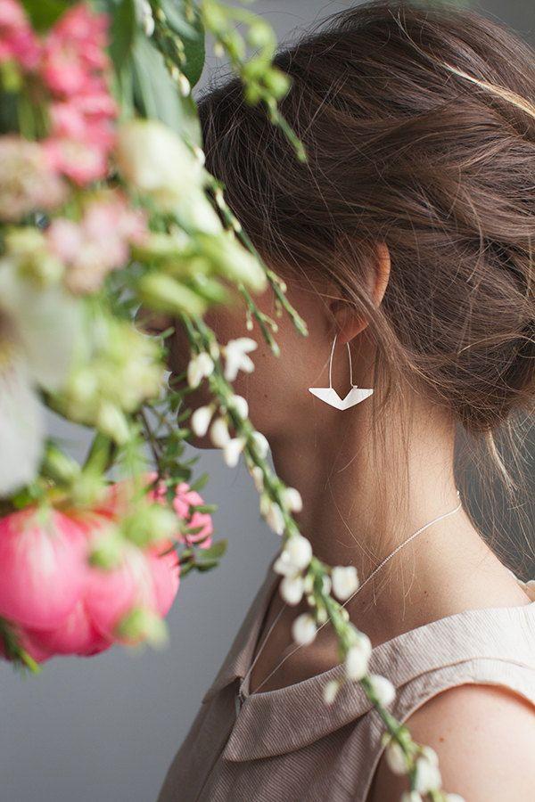Boucles d'oreilles Delta bronze