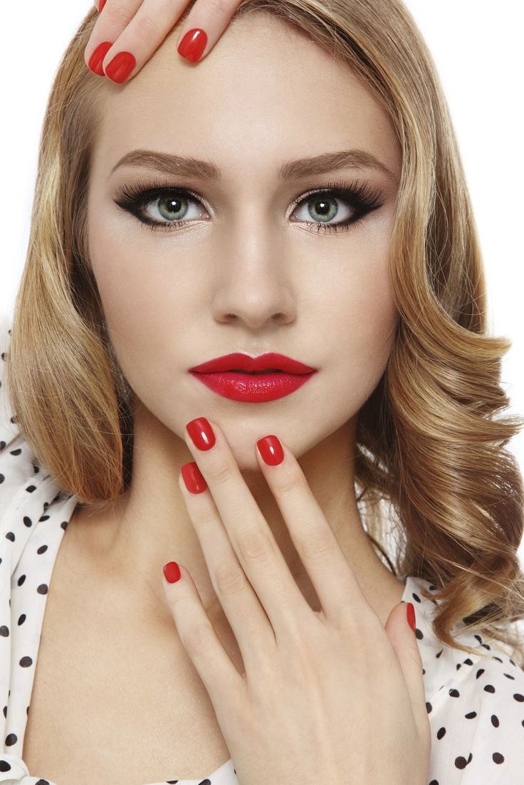 16 best images about belleza maquillaje oto o invierno 2015 on pinterest pin up - Maquillage pin up ...