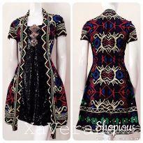 . BATIK DRESS (Bisa dipake untuk BUMIL) BAHAN batik Bima asli 100%, kain dobby sutra sequin satin velvet furing kaos CUST ORDER,ALREADY SOLDBISA PO ▶️ HARGA 885.000 BROS TIDAK DIJUAL