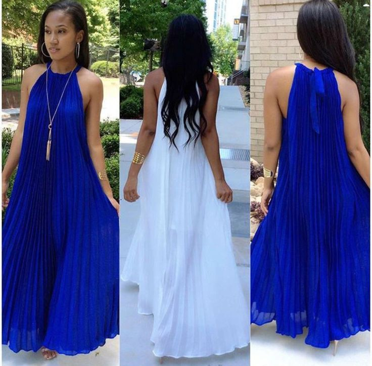Elegant style pleated maxi long dress sexy casual dress ...