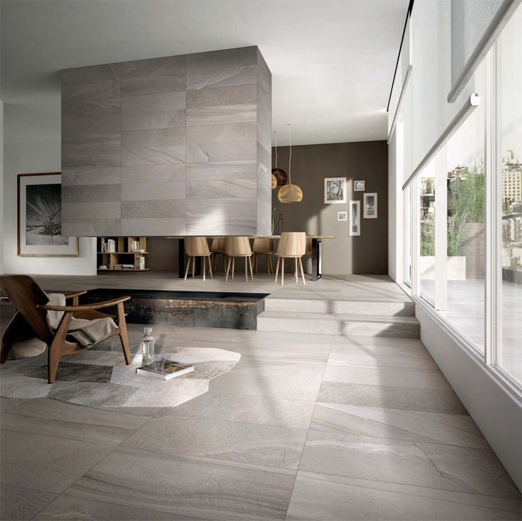 Pavimento e rivestimento in gres porcellanato rielaborate ispirandosi alla natura | Floor and wall coverings in porcelain stoneware reworked inspired by nature.