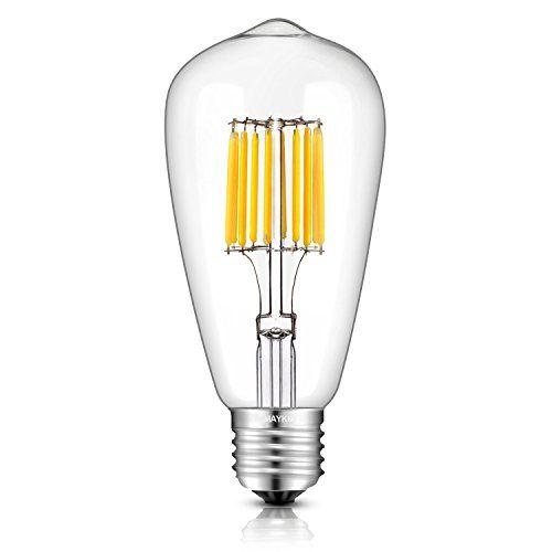 TAMAYKIM ST64 10W Antiguo de Edison Estilo Bombilla Filamento LED - 2700K Blanco Cálido 1000 Lúmenes - 10 Watts Consume - Equivalente 100W - Casquillo E27 - 360° Ángulo del Haz - Non-dimmable #TAMAYKIM #Antiguo #Edison #Estilo #Bombilla #Filamento #Blanco #Cálido #Lúmenes #Watts #Consume #Equivalente #Casquillo #Ángulo #dimmable