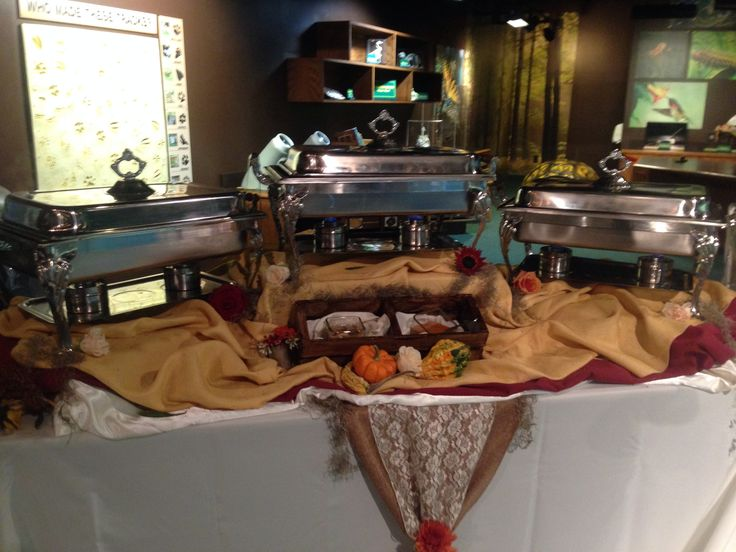 Creative wedding Buffet Displays created by the Ladies of #SouthernBridesonabudget