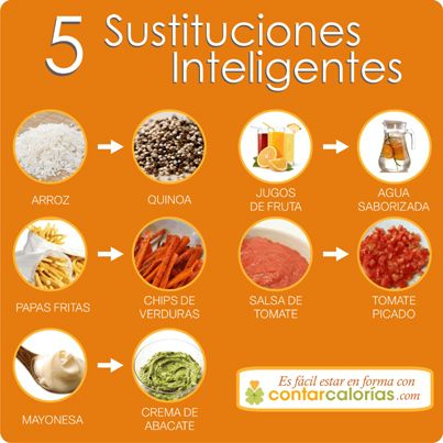 5 sustituciones inteligentes para tu #dieta #salud #nutrición