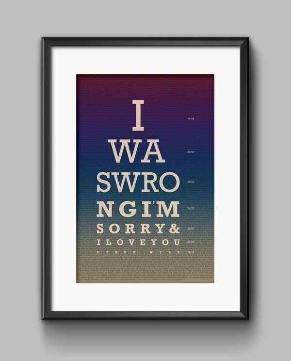 Derek Webb - Lyric Poster created by Joe Cavazos.