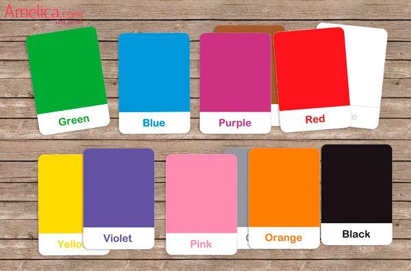 цвета на английском языке для детей карточки скачать ...