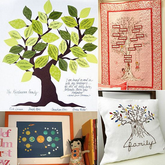 a family affair modern ways to display the family tree - Family Tree Design Ideas