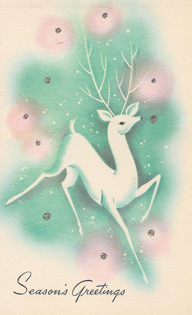 102 best christmas cardsdarling deer images on pinterest elegantly pretty vintage seasons greetings vintage christmas cards kristyandbryce Images