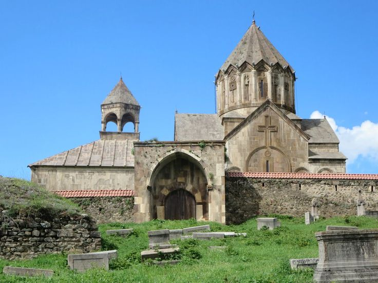 Popular belief holds that the head of John the Baptist is buried below the altar of 13th century Gandzasar Monastery near Vank, Republic of Nagorno Karabakh.